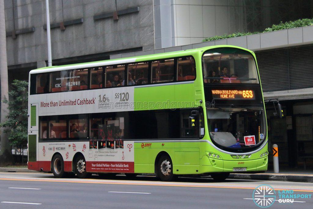 Bus 653 - SMRT Buses Volvo B9TL Wright (SG5452J)