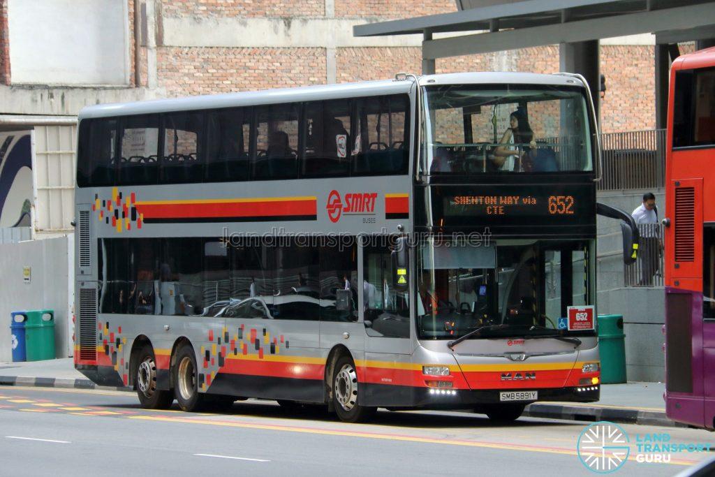 Bus 652 - SMRT Buses MAN A95 (SMB5891Y)