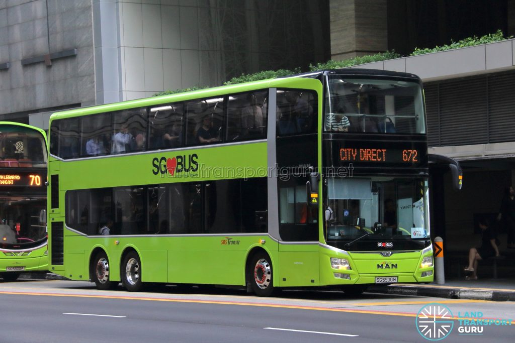 Bus 672 - SBS Transit MAN A95 (SG5900H)