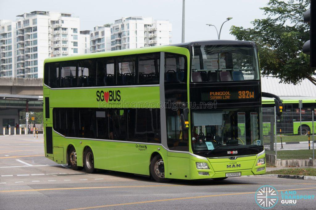 Bus 382W: Go-Ahead MAN Lion's City DD A95 (SG5919E)
