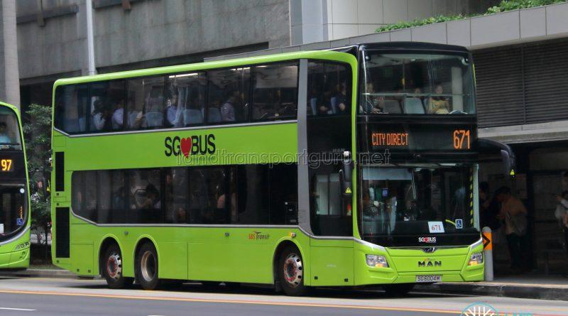 Bus 671 - SBS Transit MAN A95 Euro 6 (SG6004M)