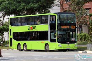 Bus 883M: SMRT MAN Lion's City DD A95 (SG6029S)