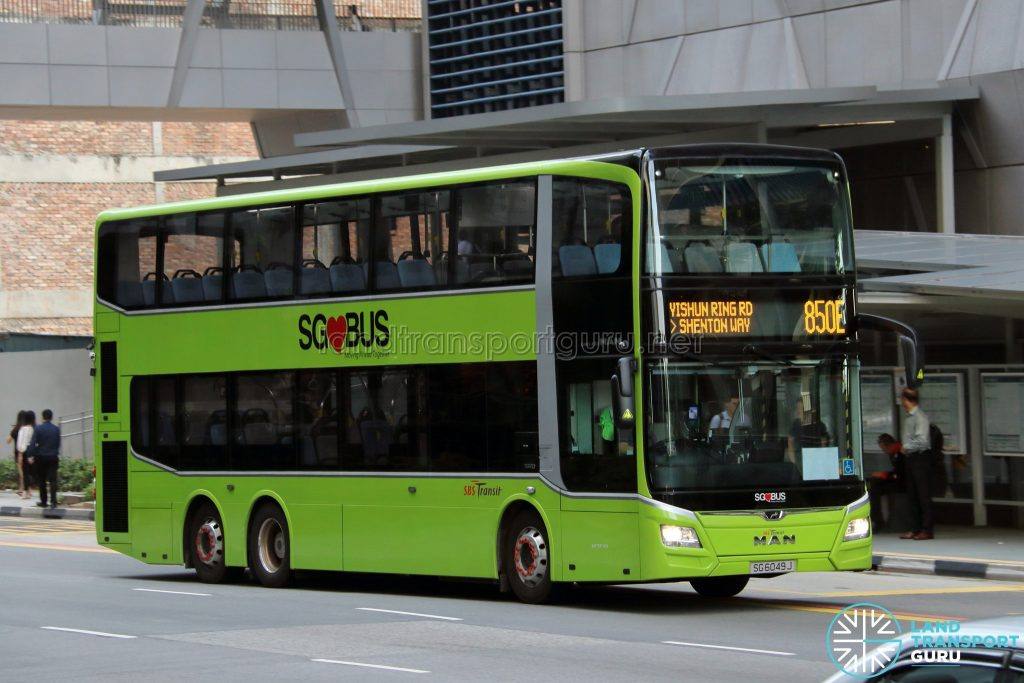 Bus 850E - SBS Transit MAN A95 Euro 6 (SG6049J)