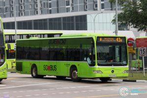 Bus 43e: Go-Ahead Mercedes-Benz Citaro (SBS6446J)