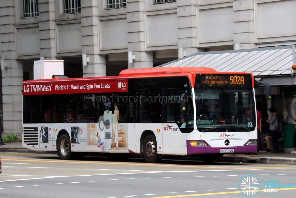 Express 502A - SBS Transit Mercedes-Benz Citaro (SBS6722L)