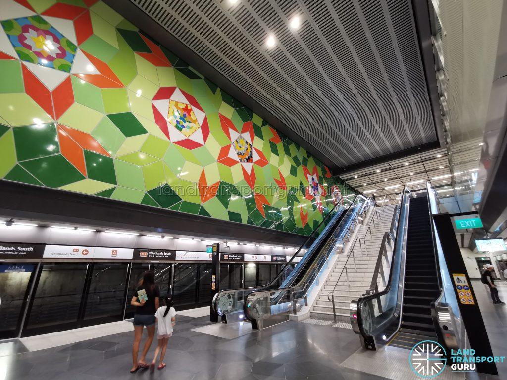 Woodlands South MRT Station - Platform
