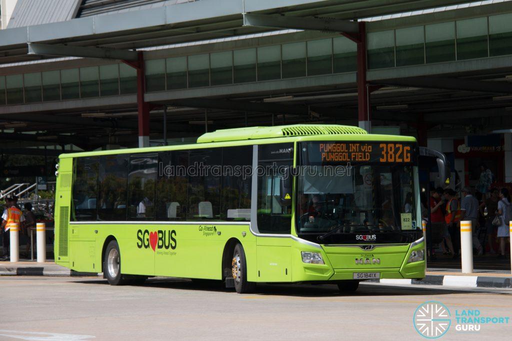 Bus 382G: Go-Ahead MAN Lion's City A22 (SG1841X)