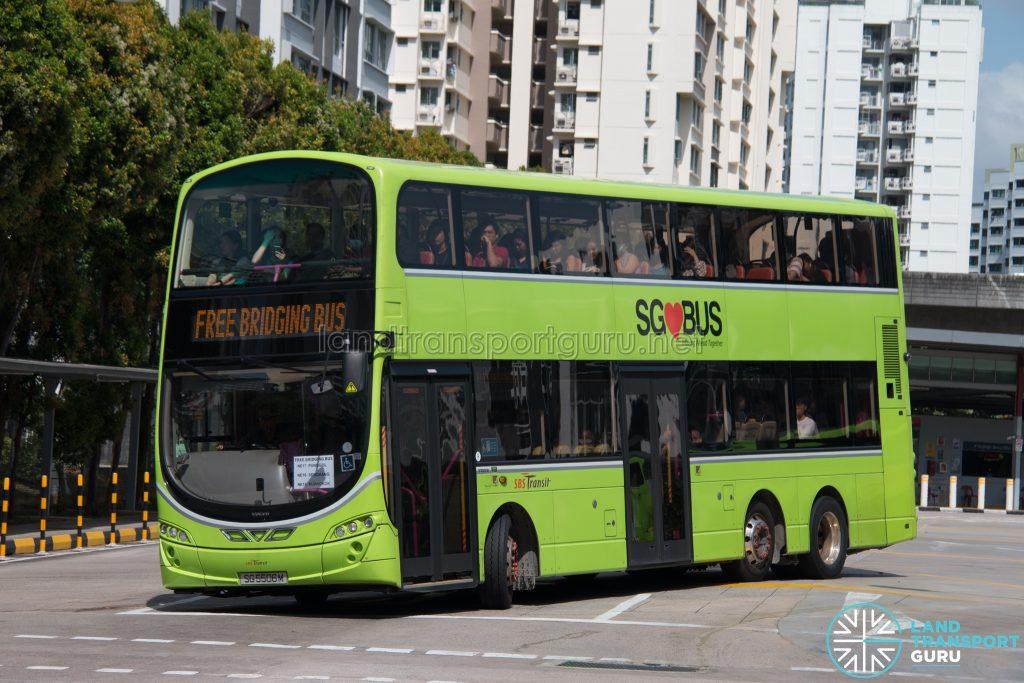 North East Line Free Bridging Bus - SBS Transit Volvo B9TL Wright (SG5506m)