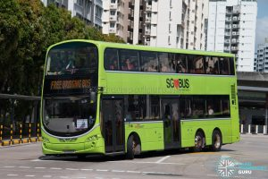 North East Line Free Bridging Bus - SBS Transit Volvo B9TL Wright (SG5506m)