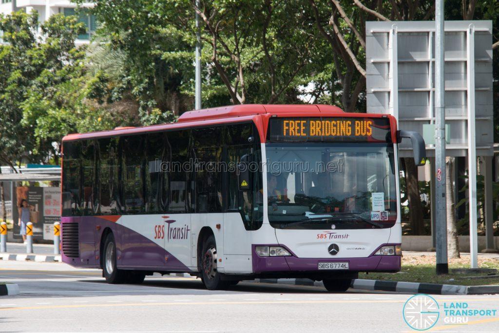 North East Line Free Bridging Bus - SBS Transit Mercedes-Benz Citaro (SBS6774L)