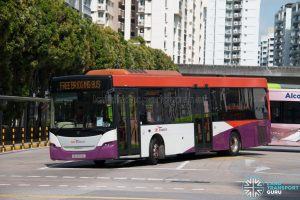 North East Line Free Bridging Bus - SBS Transit Scania K230UB (SBS8700L)