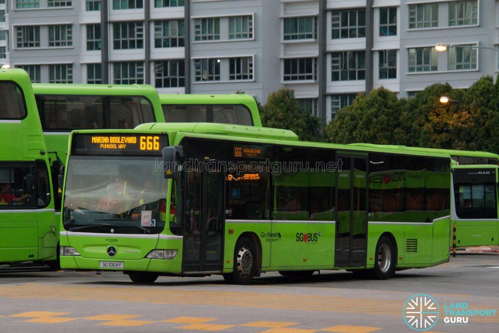 Bus 666: Go-Ahead Mercedes-Benz Citaro (SG1064Y)