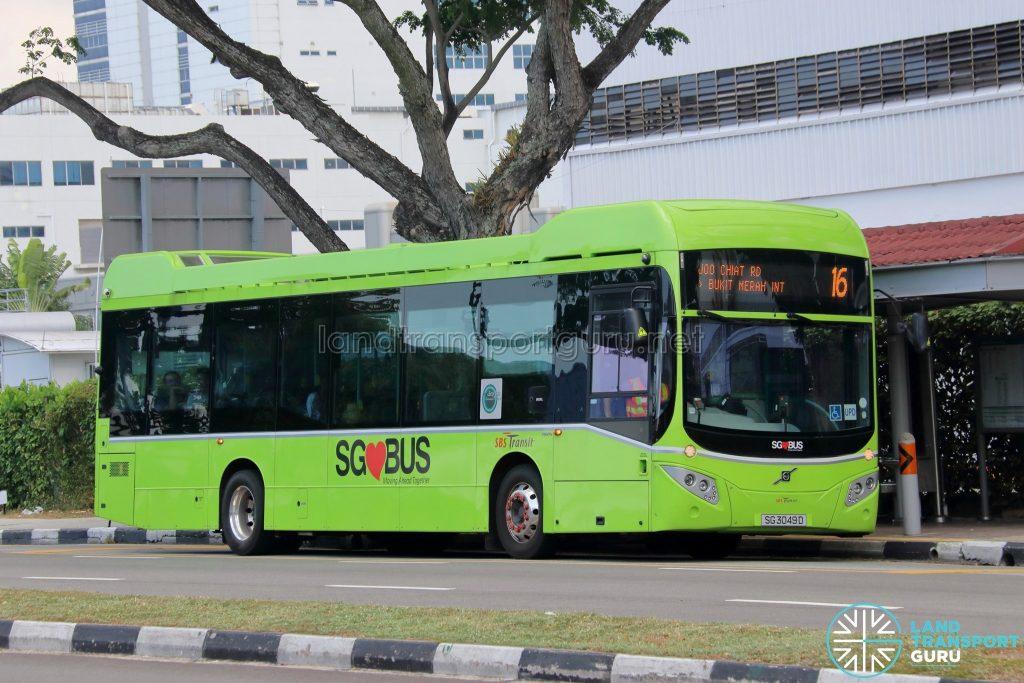 Bus 16: SBS Transit Volvo B5LH (SG3049D)