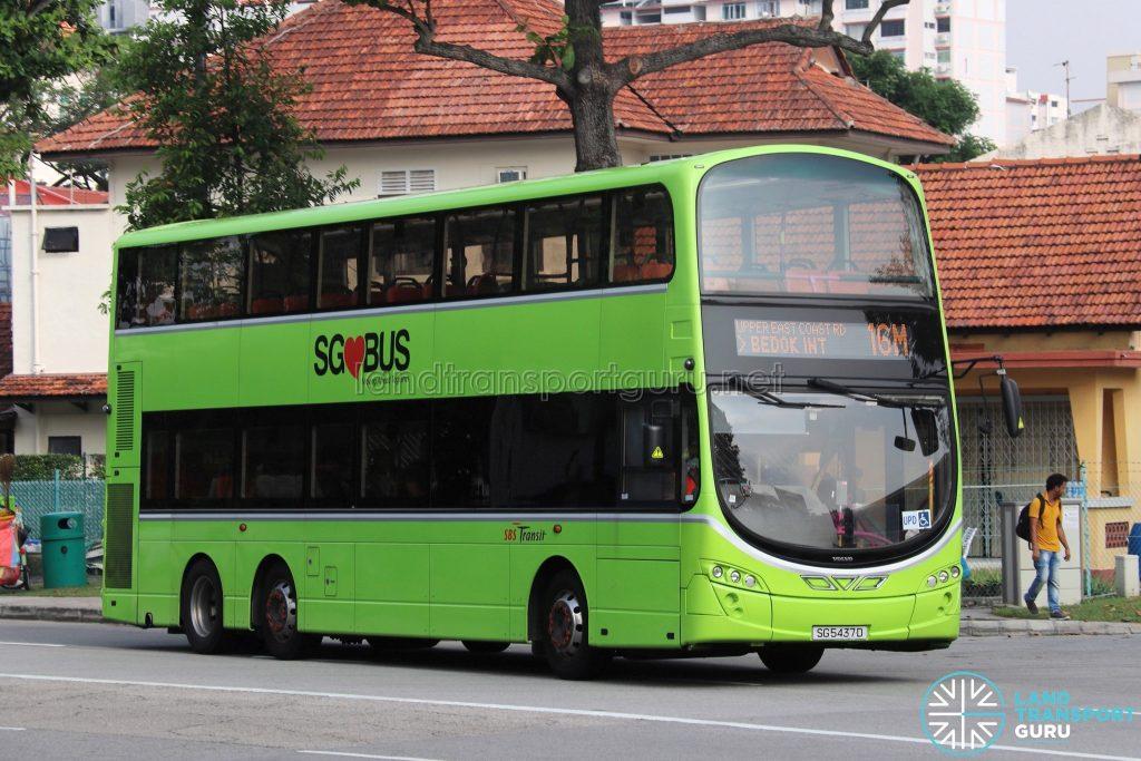 Bus 16M - SBS Transit Volvo B9TL Wright (SG5437D)