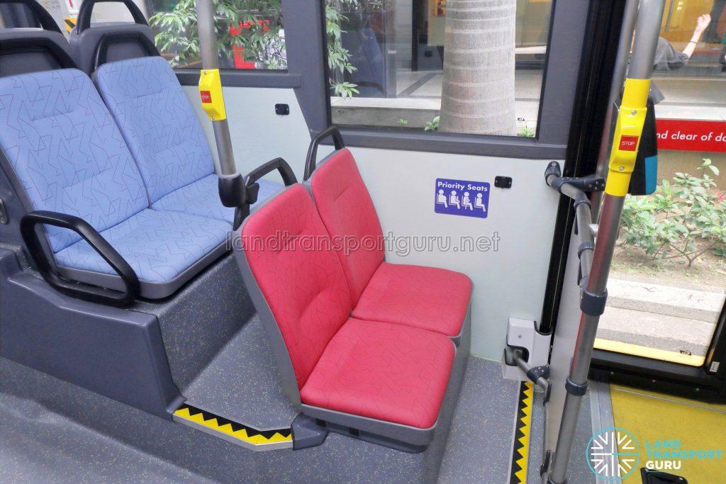 MAN A95 (Euro 6 Batch 2) – Lower deck nearside priority seats