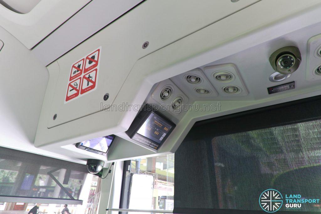 Yutong E12 - Interior (Top of driver cab with LECIP EDS Controller & CCTV monitor)