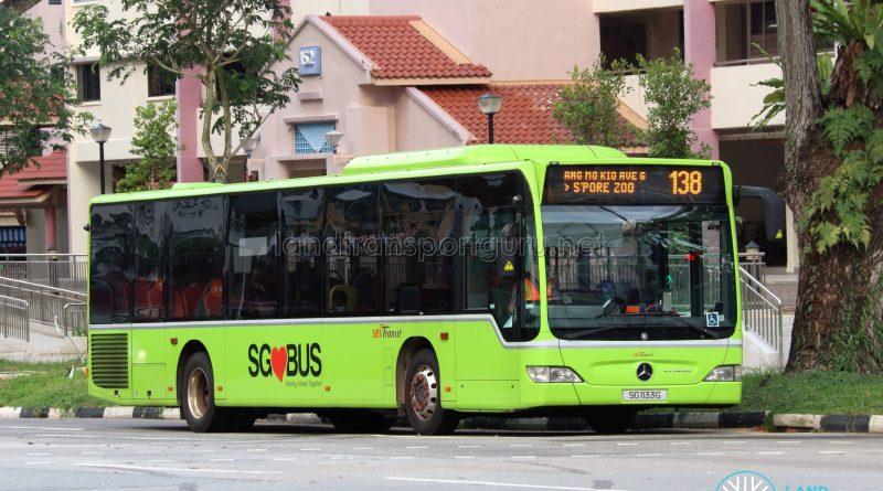 Bus 138: SBS Transit Mercedes-Benz Citaro (SG1133G)