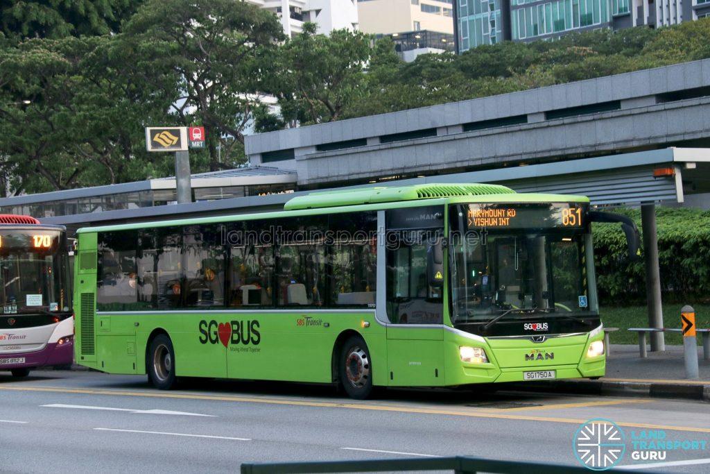 Bus 851: SBS Transit MAN Lion's City A22 (SG1750A)