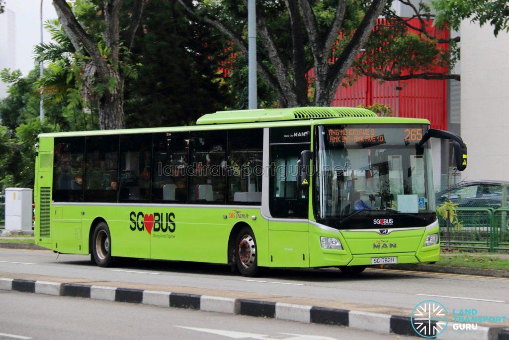 Bus 265: SBS Transit MAN Lion's City A22 (SG1782H)