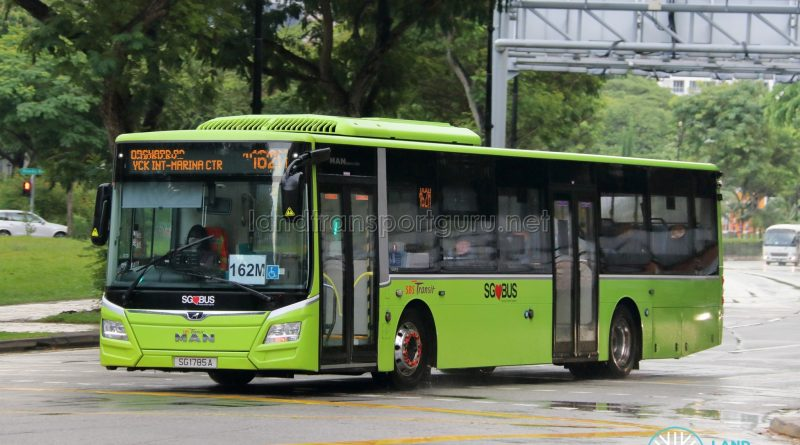Bus 162M: SBS Transit MAN Lion's City A22 (SG1785A)