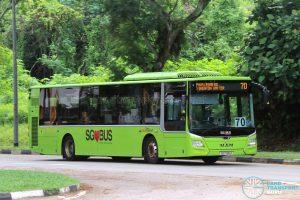 Bus 70: SBS Transit MAN A22 Euro 6 (SG1785A)