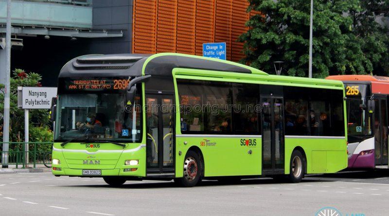 Bus 269A: SBS Transit MAN A22 (SMB3082D)