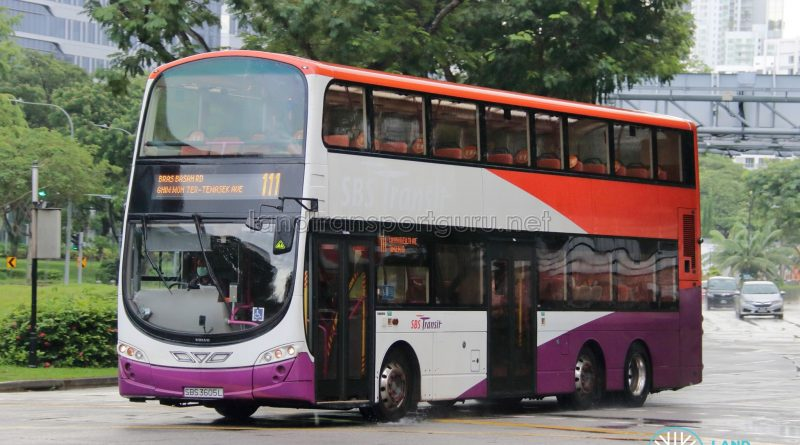 Bus 111: SBS Transit Volvo B9TL Wright (SBS3605L)