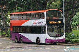 Bus 147: SBS Transit Volvo B9TL Wright (SBS3779T)