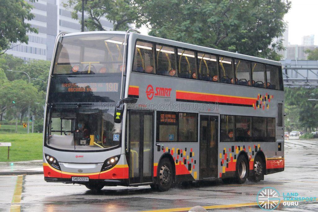 Bus 190: SMRT ADL Enviro500 MMC (SMB5001A)