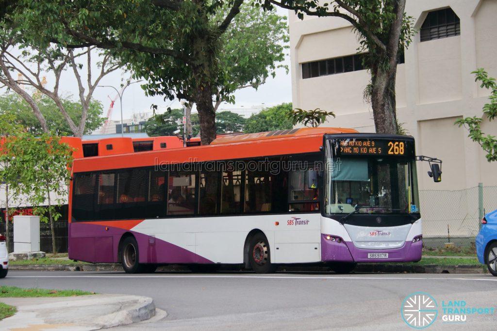 Bus 268: SBS Transit Scania K230UB (SBS5117R)