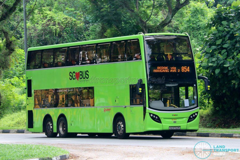 Bus 854: SMRT Buses Alexander Dennis Enviro500 (SG5702M)