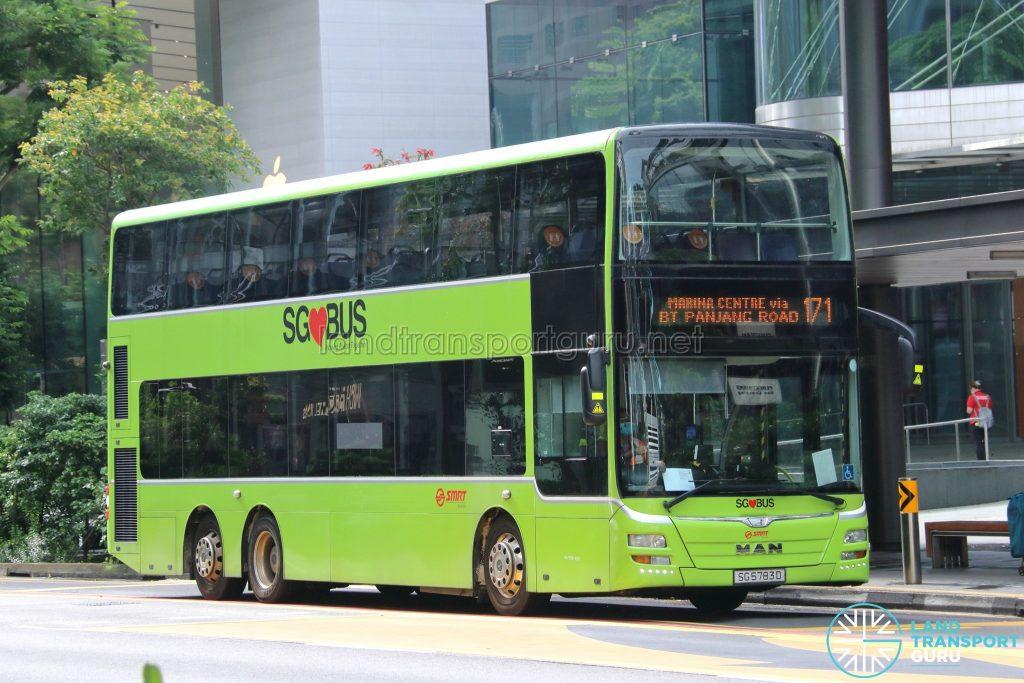 Bus 171: SMRT MAN Lion's City DD A95 (SG5783D)