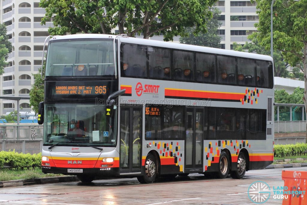 Bus 965: SMRT MAN Lion's City DD A95 (SMB5895L)