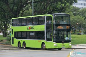 Bus 857: SMRT MAN Lion's City DD A95 (SG6037T)