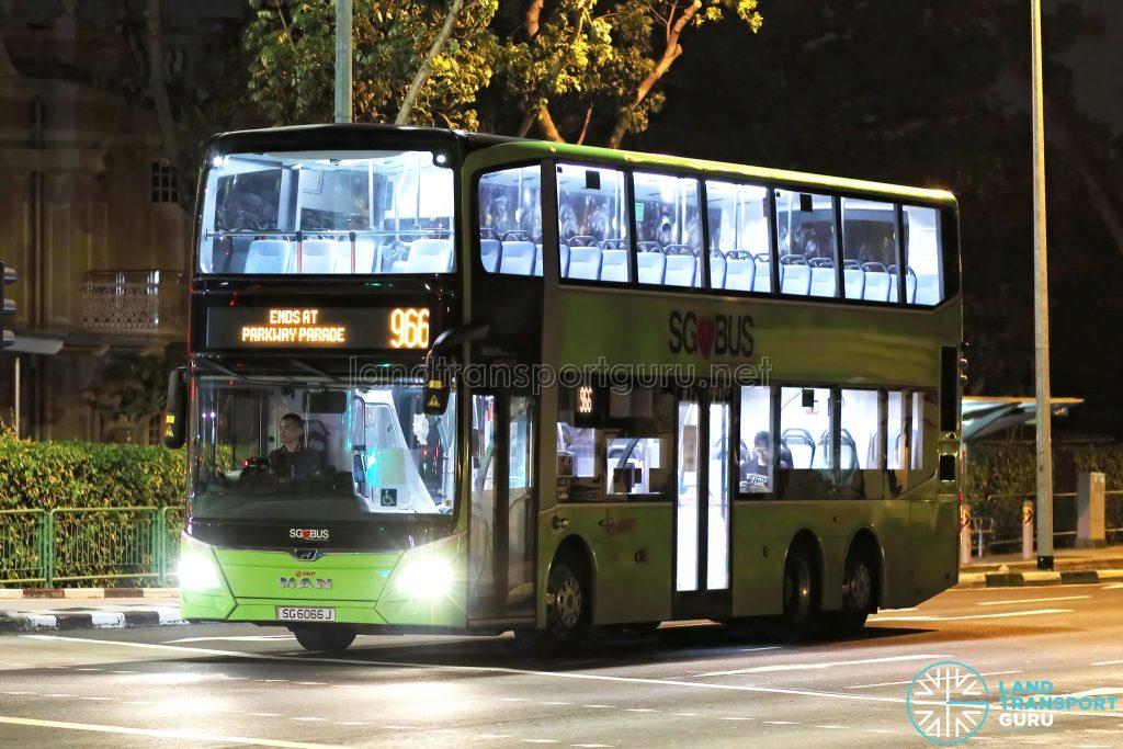 Bus 966: SMRT Buses MAN Lion's City DD A95 (SG6066J)