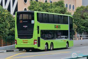 Bus 67W: SMRT MAN Lion's City DD A95 Rear (SG6122E)