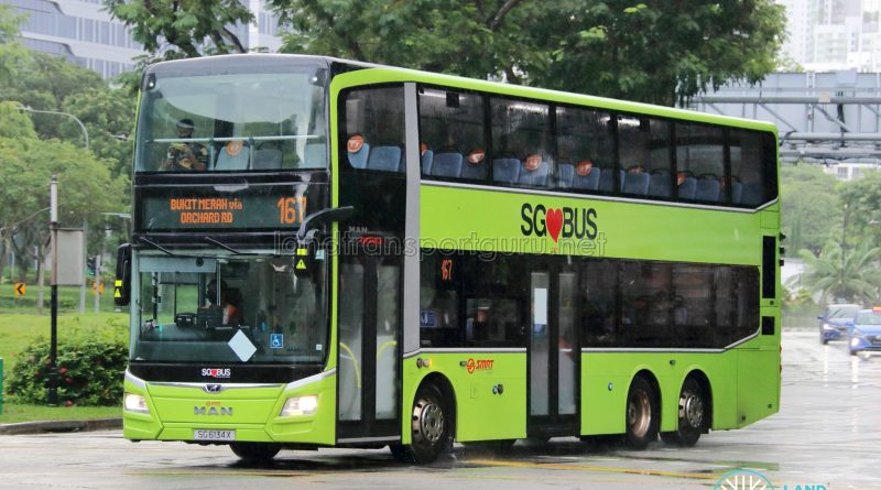 Bus 167: SMRT MAN Lion's City DD A95 (SG6134X)