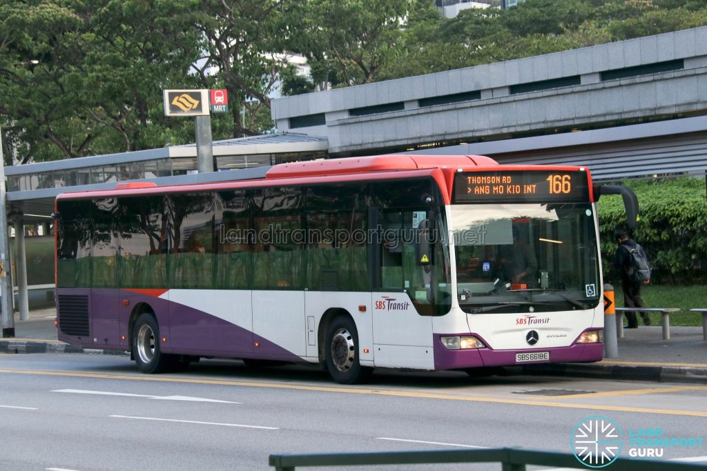 Bus 166: SBS Transit Mercedes-Benz Citaro (SBS6618E)