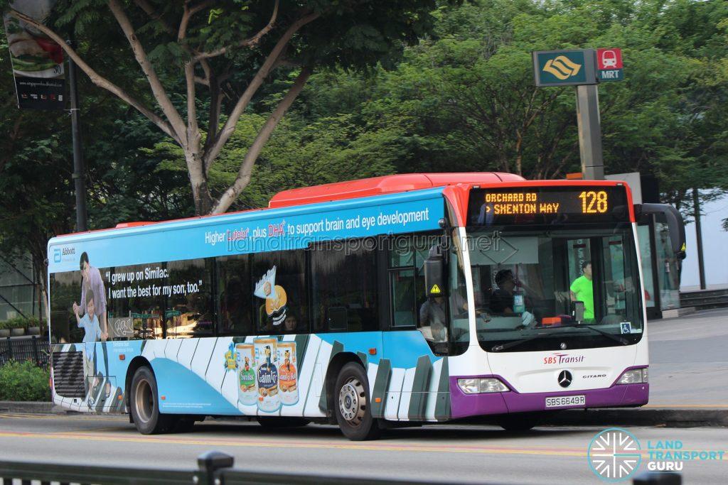 Bus 128: SBS Transit Mercedes-Benz Citaro (SBS6649R)