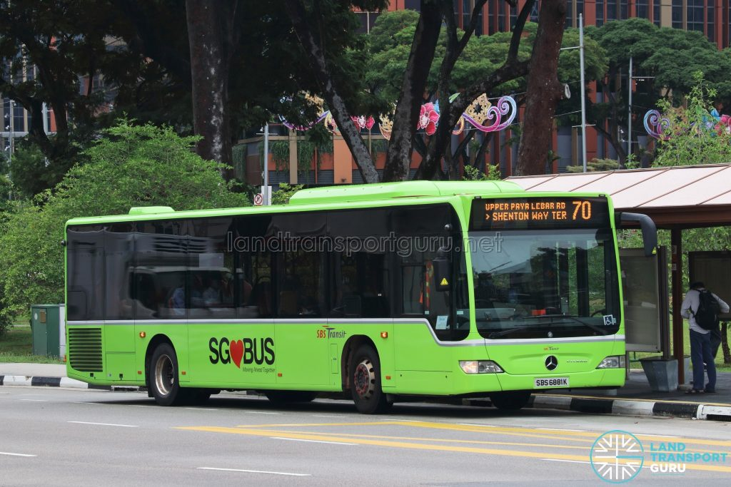 Bus 70 - SBS Transit Mercedes-Benz Citaro (SBS6881K)