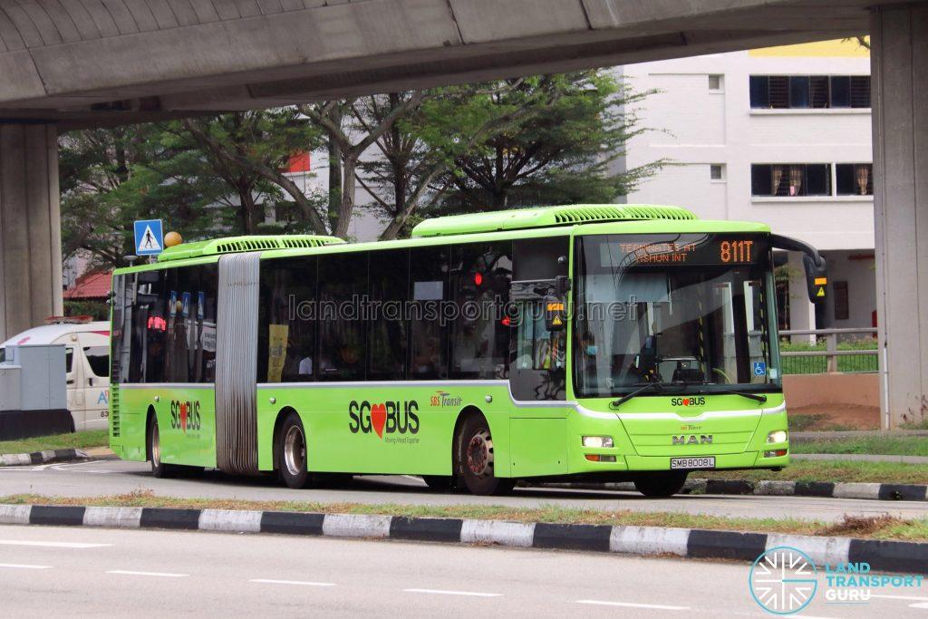 Bus 811T - SBS Transit MAN A24 (SMB8008L)
