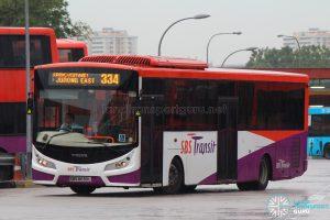 Bus 334: SBS Transit Volvo B7RLE (SBS8030L)