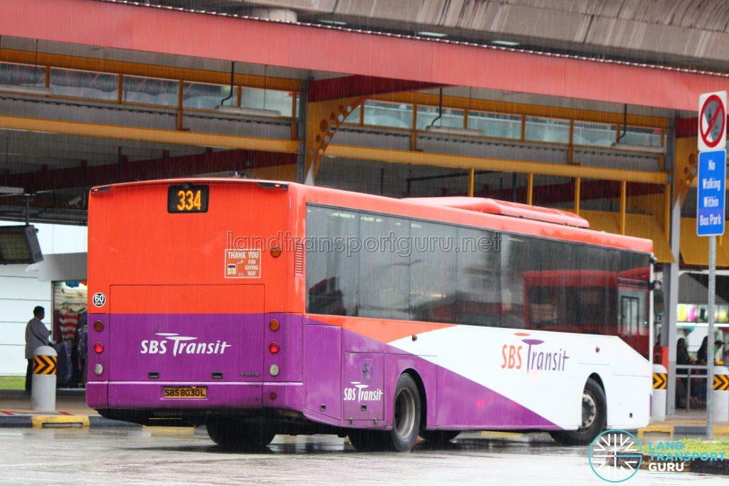 Rear of SBS Transit Volvo B7RLE (SBS8030L)