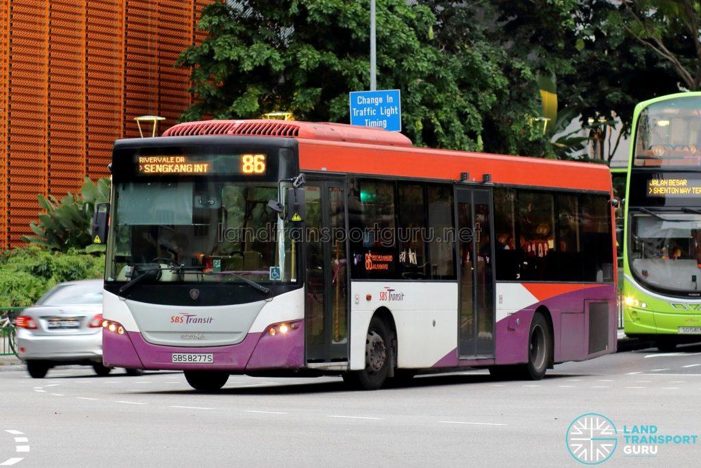 Bus 86: SBS Transit Scania K230UB (SBS8277S)