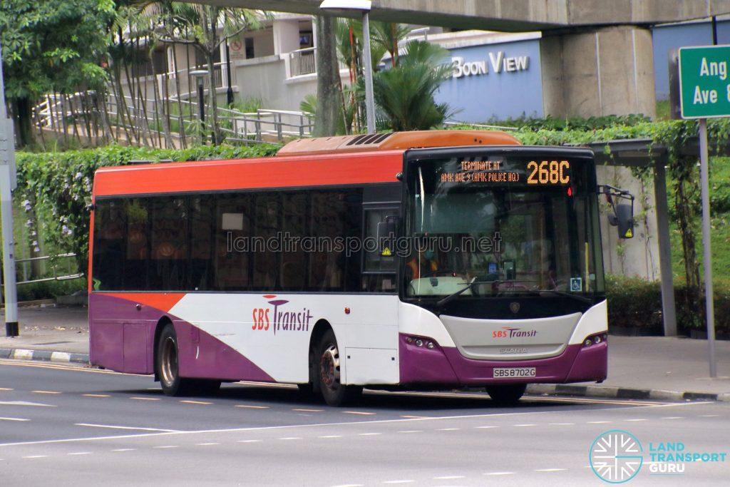 Bus 268C: SBS Transit Scania K230UB (SBS8702G)