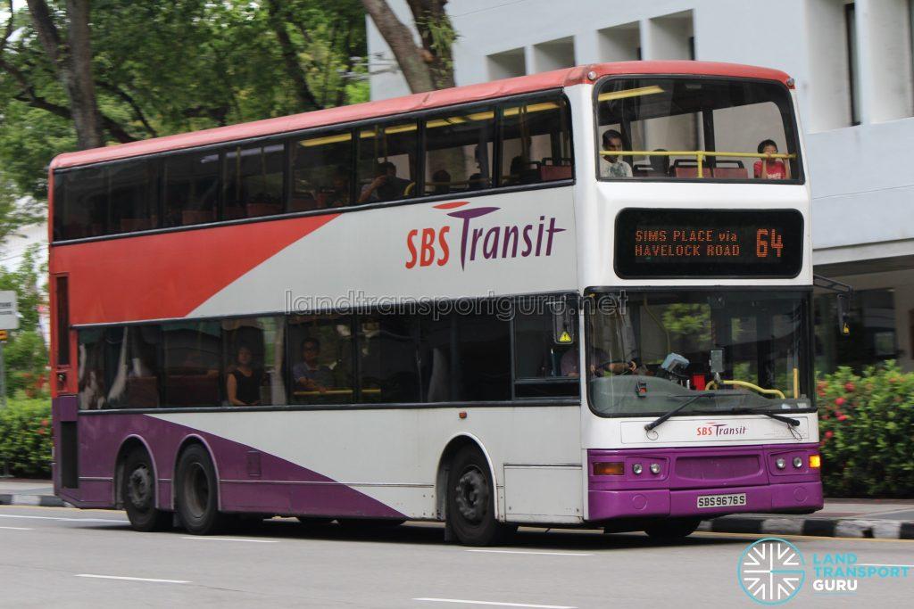 Bus 64: SBS Transit Dennis Trident (SBS9676S)