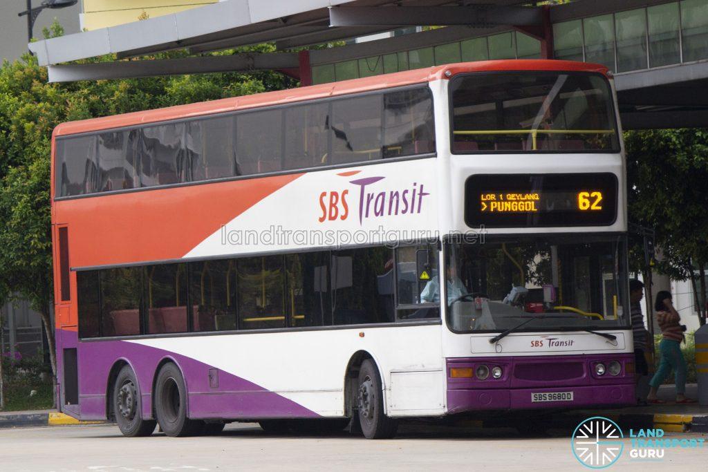 Bus 62: SBS Transit Dennis Trident (SBS9680D)