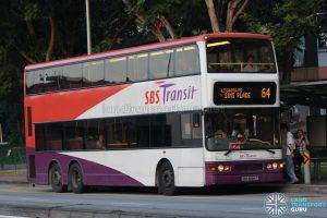 Bus 64: SBS Transit Dennis Trident (SBS9684T)