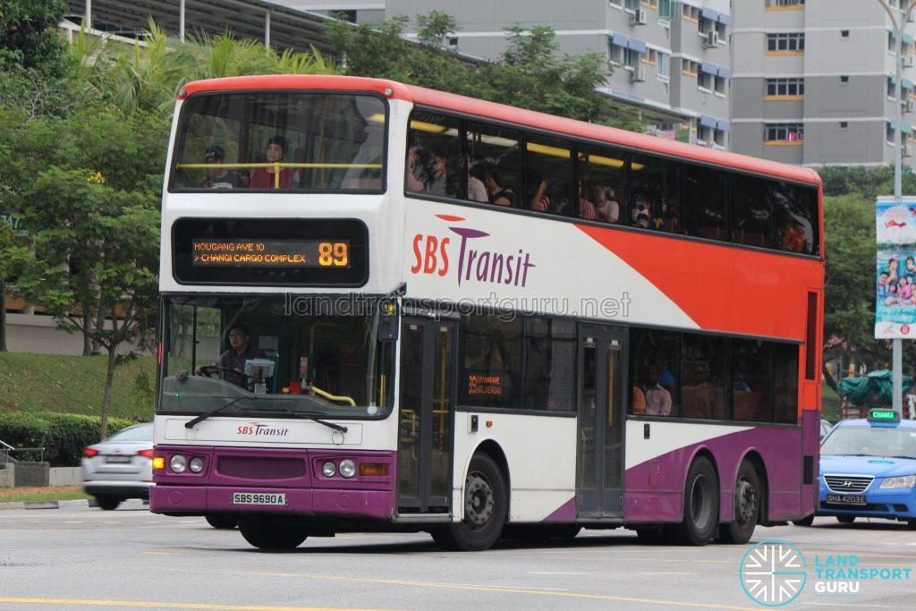 Bus 89: SBS Transit Dennis Trident (SBS9690A)