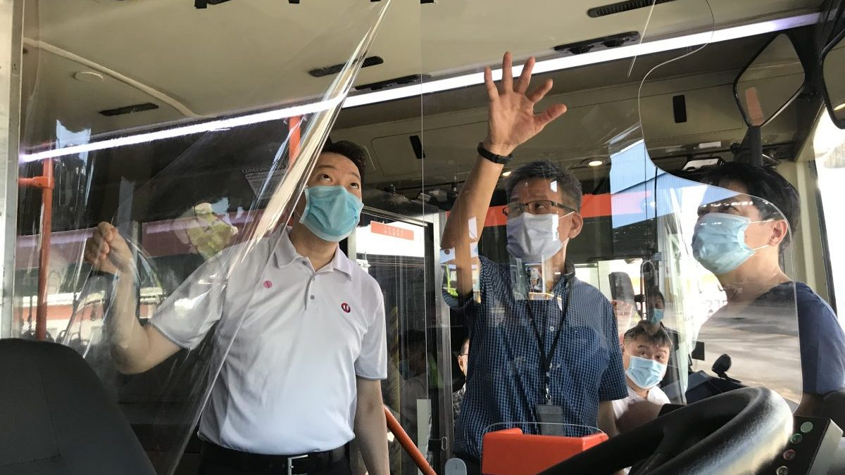 COVID-19: Protective Screens on public buses